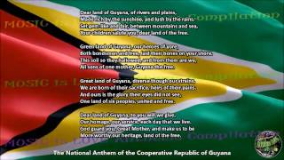 "Guyana National Anthem ""Dear Land of Guyana, of Rivers and Plains"" with music, vocal and lyrics"