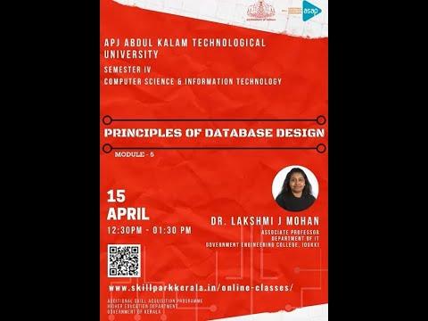 ASAP_ Online Classes _ CSE & IT - S4 _ Principles of Database Design by Dr  Lekshmi J  Mohan