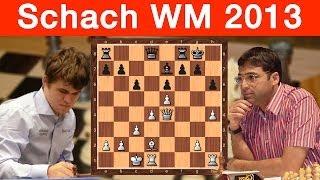 Schach-WM 2013 Magnus Carlsen - Viswanathan Anand: Runde 9
