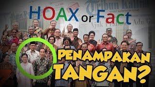 Hoax or Fact: Penampakan Tangan di Pundak Jokowi saat Perpisahan Menteri?