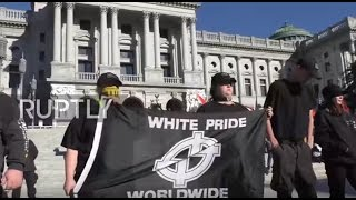 USA: Neo-Nazi rally outnumbered by counter protests in Pennyslvania