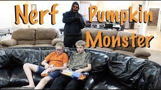 Nerf vs Pumpkin Monster