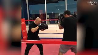 MAFS' Telv Williams Practices His Boxing Skills In The Ring