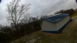 Random FPV flight - controlled from inside the house by a window