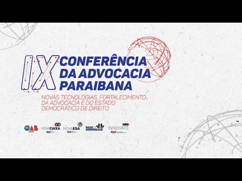 IX Conap, palestras sala Levi Borges – sexta (manhã)