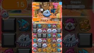 Pokemon Shuffle Mobile Main Stage 663 Steelix S Rank『ポケとる スマホ版』