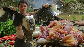 Yummy Spicy Fried Duck Recipe | Cooking Wild Duck And Eating Delicious In The Forest
