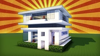 Minecraft How To Build A Modern House How To Make Small House Tutorial Minecraftvideos Tv