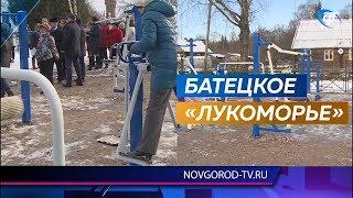 В Батецком районе открылись парк семейного отдыха и спортивная площадка