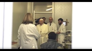 Vatican Connections: Pope Surprises Volunteers at a Make shift Clinic at St. Peter's Square