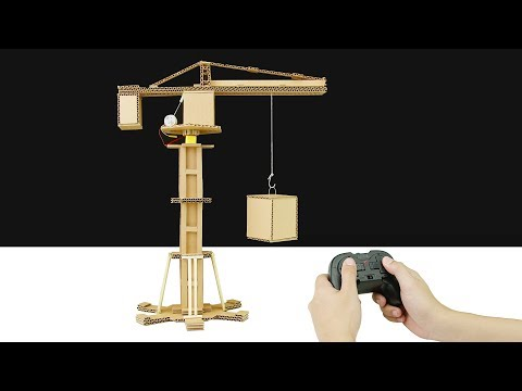 How to Make Automatic Hydraulic Powered Crane from Cardboard