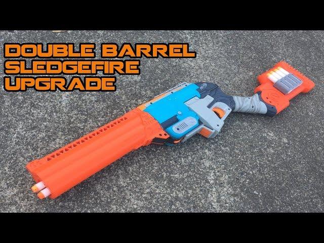 NERF Sledgefire Double-barrel Shotgun Mod Kit Install + Review