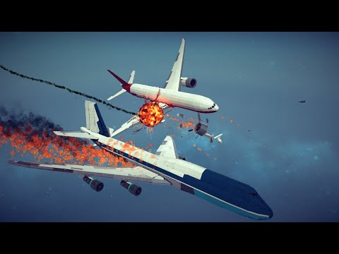 Spectacular Airplane Crashes, Shoot Downs, Midair Collisions and More #1   Besiege