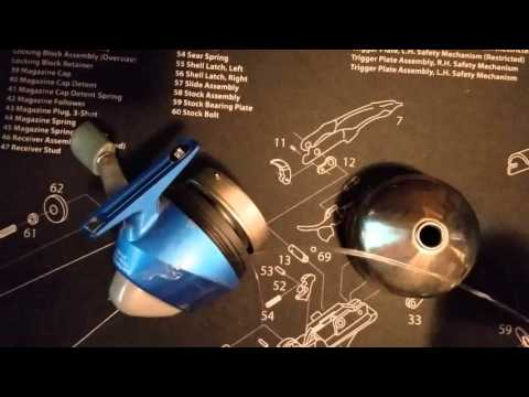How to respool or reline a push button fishing reel