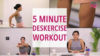 5 Minute Easy Office Exercise Routine For Women - POPxo by POPxo