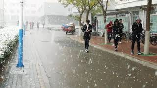 preview picture of video 'Snow Fall at Lanzhou (兰州)'