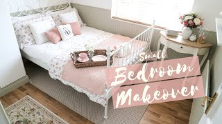 Small Bedroom Makeover, Ikea Leirvik, Cottage Style Decor