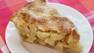 Homemade Apple Pie - 3 POUNDS OF APPLES, Easy Oil Crust