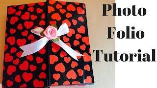 How To Make A Photo Folio | Photo Folio Tutorial | Photo Album | Scrapbooking Tutorial