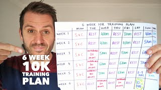 6 week 10k training plan