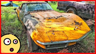 50 year old limited edition Chevrolet Corvette was found in the slums. Abandoned Chevrolet Corvette