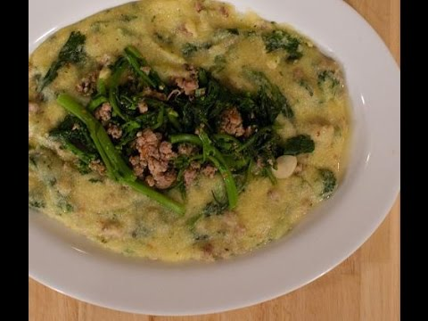 Polenta with Broccoli Rabe and Sausage – Rossella's Cooking with Nonna