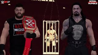 WWE 2K17: Roman Reigns vs Kevin Owens Promo! (Royal Rumble 2017 WWE Universal Championship)