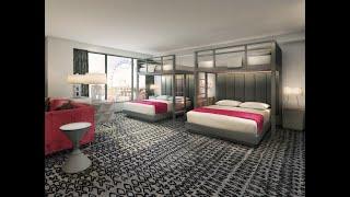 4K Flamingo Hotel - Two Bunk Beds Room Review - Las Vegas