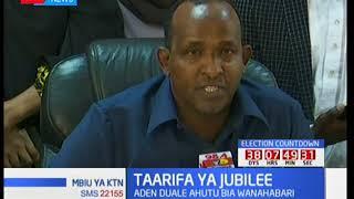 Tume ya IEBC yashambuliwa na Jubilee kupitia mbunge wa Garissa, Aden Duale
