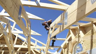 Incredible Fastest Wooden House Construction Method - Amazing Intelligent Log House Building ▶4