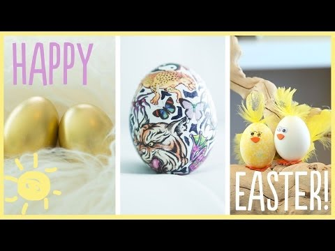 Dye-Free Easter Egg Decorations
