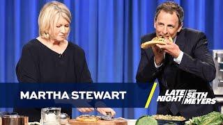 Martha Stewart Teaches Seth to Make Pizza