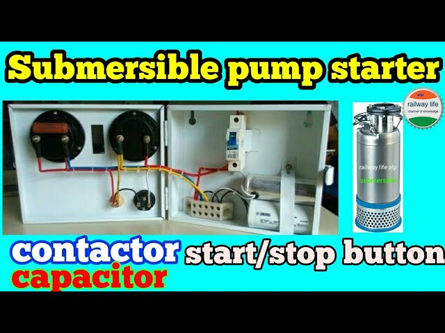 Submersible pump starter wiring diagram with contactor | capacitor ...