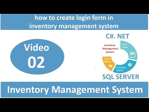 How to create login form in inventory management system in C#