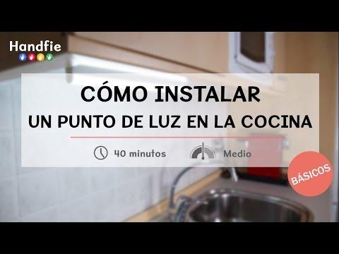 Cómo instalar un punto de luz LED en la cocina · Handfie DIY