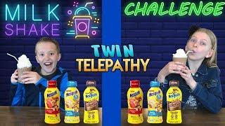 Twin Telepathy Milkshake Challenge || Alyssa vs David
