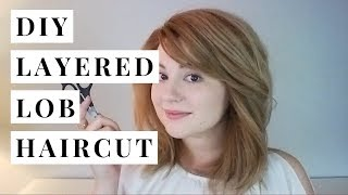 DIY Haircut (Adding Layers To A Lob) | Hey Julia Rae