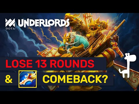 LOSE 13 ROUNDS & COMEBACK! Advanced Strategies & Tips! | Dota Underlords