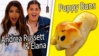 Can Andrea Russett and BFF Elana Re-Create Our Puppy Buns?! | Snackable's Impossible Food Challenge