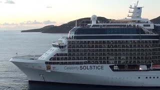 Oasis of the Seas vs Celebrity Solstice Horn Battle!