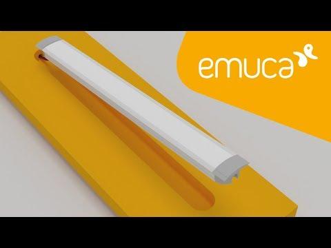 Cómo instalar una Tira LED con perfil de aluminio empotrado y difusor curvo en el mueble – Emuca