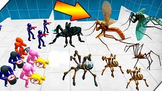НАПАДЕНИЕ ПАУКОВ - Батл Симулятор : Пауки и Стикмен  (Stickman Spider Battle Simulator)
