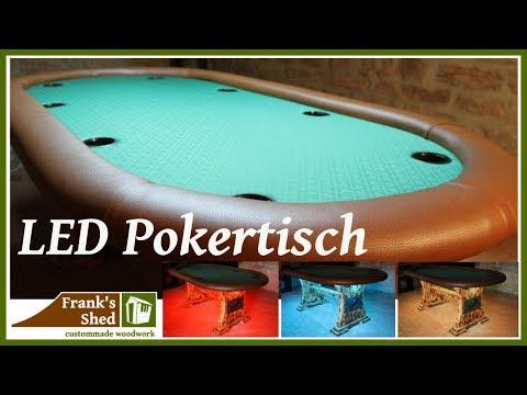 DIY Pokertisch   LED Tisch selber bauen   Möbel selber bauen   Anleitung   🔥 Franks Shed 🔥