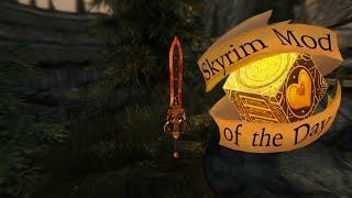 Skyrim Mod of the day: Sword Of Fiery Darkness - A Custom Model In 4K HD
