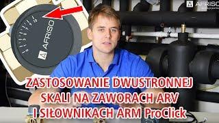 Jak wybrać odpowiednią skalę na zaworach ARV ProClick i siłownikach ARM ProClick