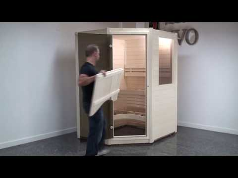 SAWO sauna room assembly