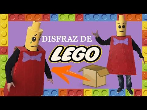 DISFRACES CASEROS PARA ADULTOS - DISFRAZ ORIGINAL DE LEGO