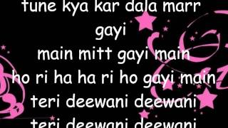 Teri Deewani lyrics