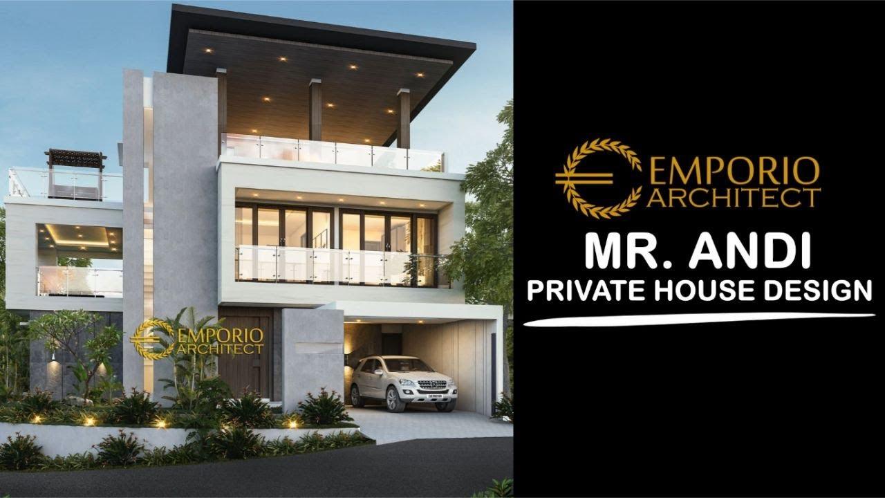 Video 3D Mr. Andi Mulyandi Modern House 3 Floors Design - Cimahi, Bandung