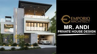 Video Desain Rumah Hook Modern 3 Lantai Bapak Andi Mulyandi di  Cimahi, Bandung